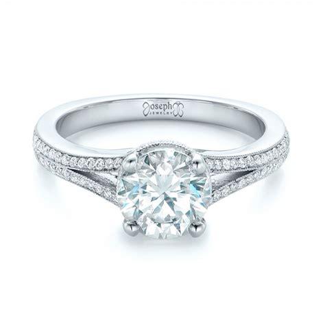 custom split shank engagement ring 102226