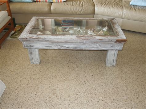 Coastal Coffee Table Coastal Coffee Table Shadow Box Style Green