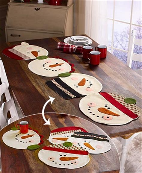 snowman table runner and placemats 2 in 1 snowman placemats or table runner the lakeside