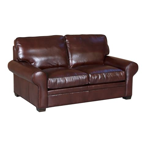 classic loveseat classic leather 11517 library loveseat discount furniture