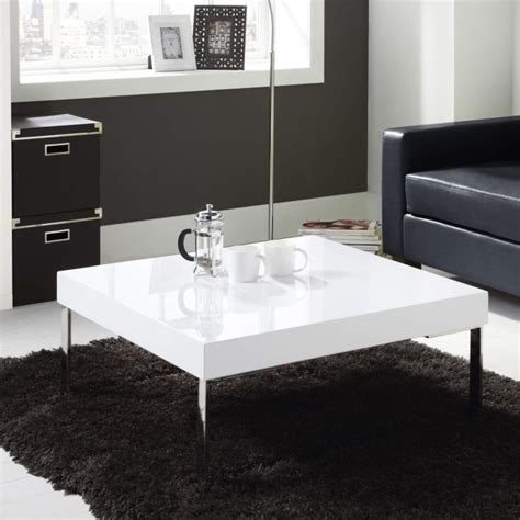 tiffany white high gloss square coffee table furniture123