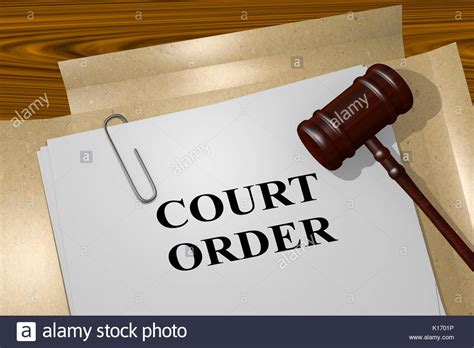 This Is An Order From The Court To Send Up The Records On A For Review Court Order Stock Photos Court Order Stock Images Alamy
