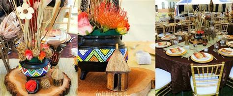 Centerpiece traditional decor   Zulu traditional wedding