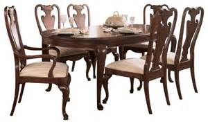 American Drew Cherry Grove Dining Room Set by American Drew Cherry Grove 8 Piece Leg Dining Room Set In
