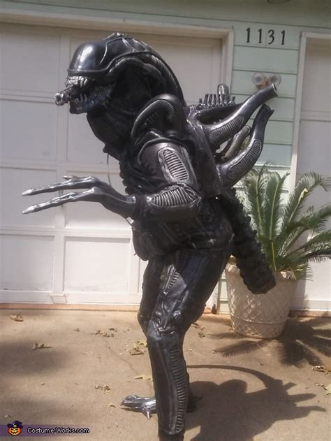 homemade alien xenomorph costume