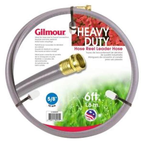 gilmour 5 8 in dia x 6 ft reel leader hose water hose 10
