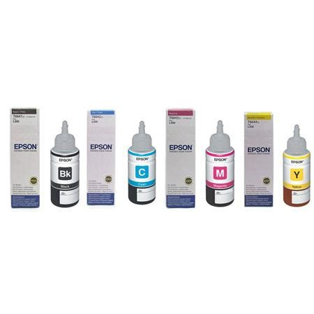 Epson T664 epson t664 70ml ink bundle for et 4500 2500 2550 bcmy t664 ka