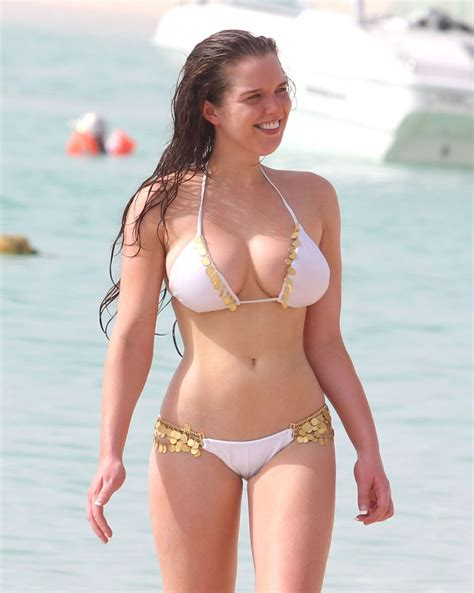 Helen Flanagan In Bikini On The Beach In Dubai Hawtcelebs
