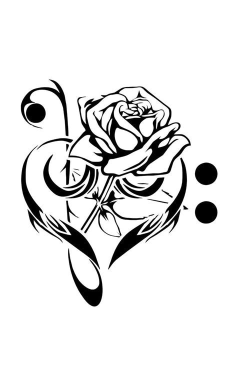 music rose tattoo clef note mejor conjunto de frases