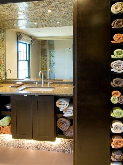 clever bathroom storage ideas hgtv