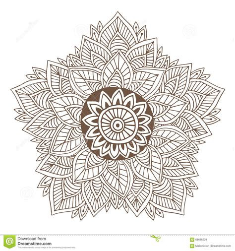 henna tattoo book mandala for coloring book pages vector ornament pattern