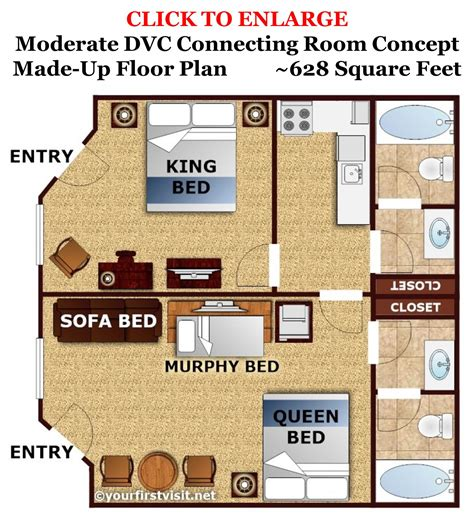 disney vacation club floor plans review disney s caribbean beach resort vacation club
