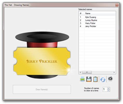 Random Giveaway Picker - the hat list randomizer and random name picker for windows