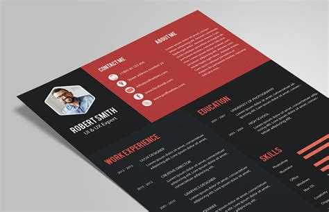Creative Resume Template Zip by Creative Resume Cv Design Template Psd File Resume
