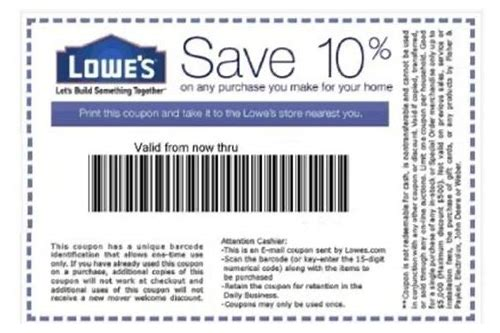 10 percent off lowes coupon 2018