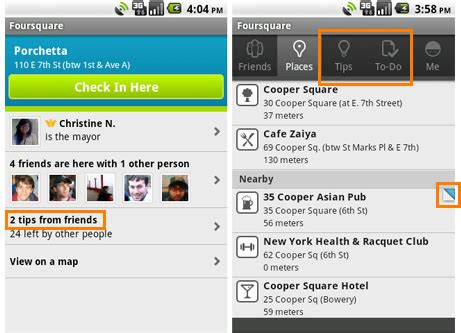foursquare for android foursquare for android updated to 2 0