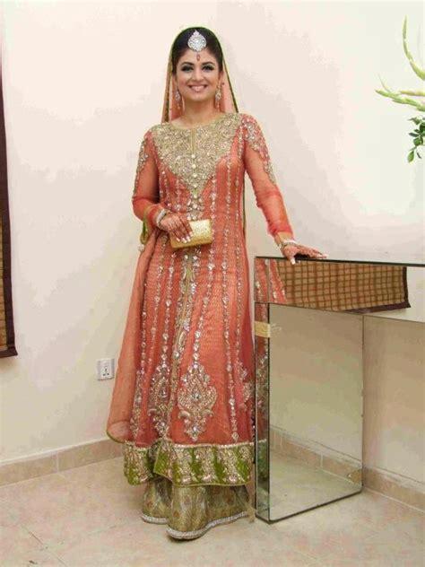 bridal long shirt lehnga 2013 pakistani wedding dresses