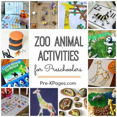 zoo themed birthday party games zoo activities for preschoolers pre k pages