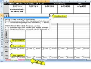read 180 lesson plan template custom common reading or math intervention weekly