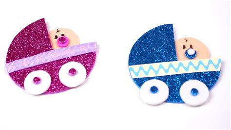 como hacer souvenirs para baby shower como hacer carreolas para baby shower de foami o goma eva
