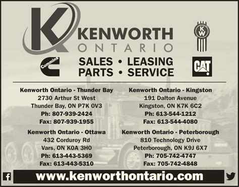 kenworth mississauga parts kenworth of thunder bay thunder bay on 2730 arthur st