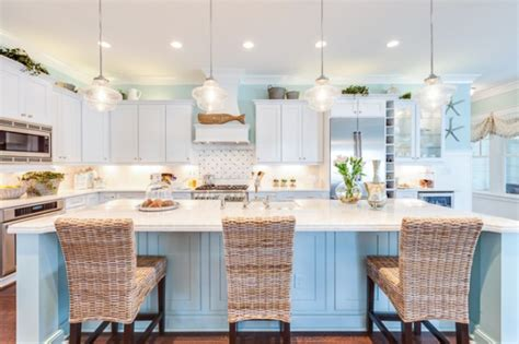 Over Island Kitchen Lighting by Coastal Kitchen Home Stories A To Z