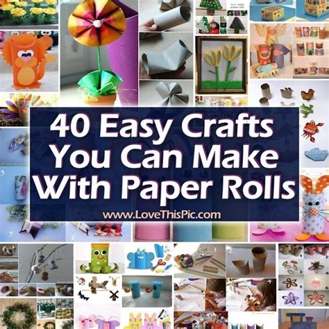 What You Can Make With Paper - 40 easy crafts you can make with paper rolls
