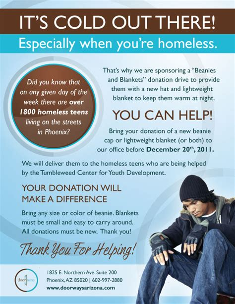 Fundraising Letter For Homeless Shelter Donate Beanie Caps And Blankets To Help Homeless