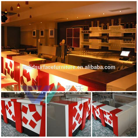 Cafe Bar Decoration Modern Furniture Small Bar Counter Factory Price Modern Design Commercial Counter Top Luxury