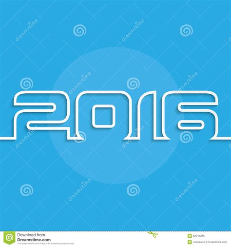 new year card design 2016 new year 2016 greeting card design stock vector image