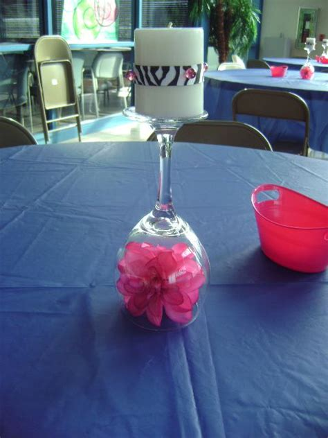 Table Decorations For 16th Birthday by Centerpiece I Did For Daughters 16th Birthday
