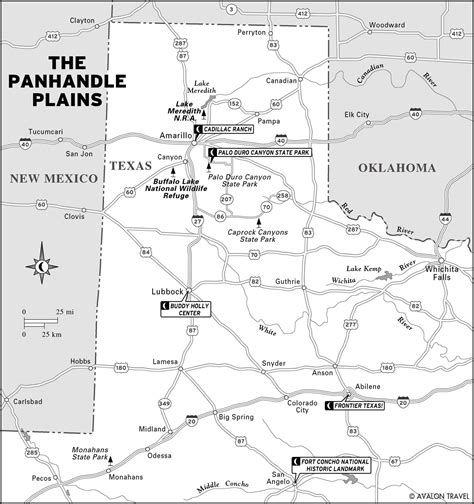 texas panhandle map of cities panhandle texas images