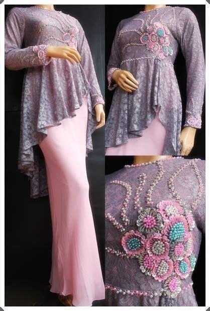 Set Bahan Kebaya Modern 6 inspirasi model gaun brukat muslim untuk pesta
