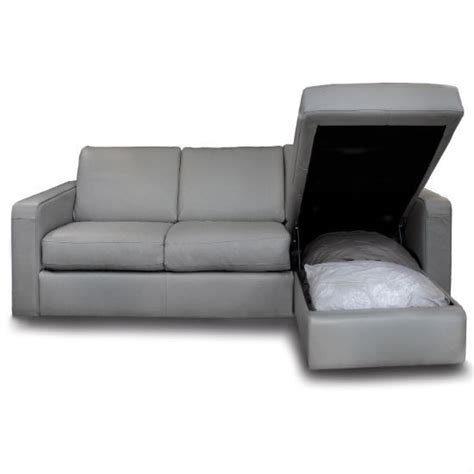 marco sofa bed with storage chaise from darlings of
