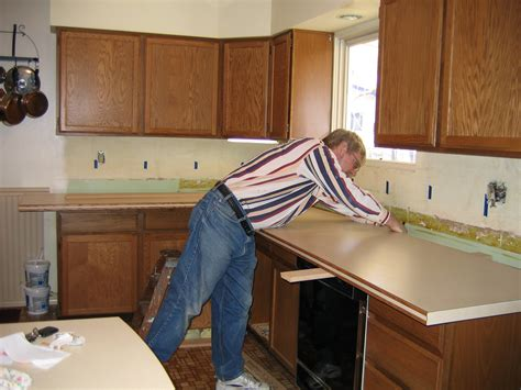 How To Install Kitchen Countertop Diy Kitchen Countertop Remodel