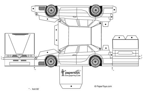 Printable Paper Car Template | paper toys cartype