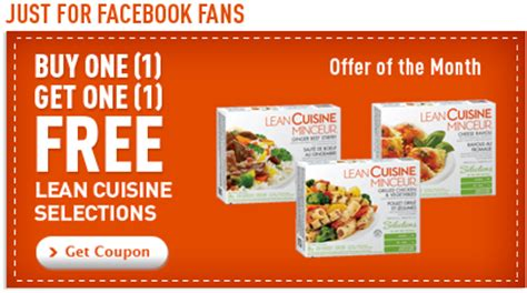 lean cuisine coupon for buy 1 get 1 free