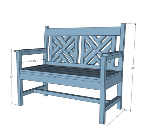 bench with backrest plans ana white woven back bench diy projects