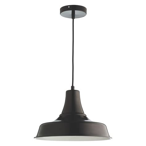 Emmanuelle Black Enamelled Metal Ceiling Light Buy Now Metal Ceiling Light