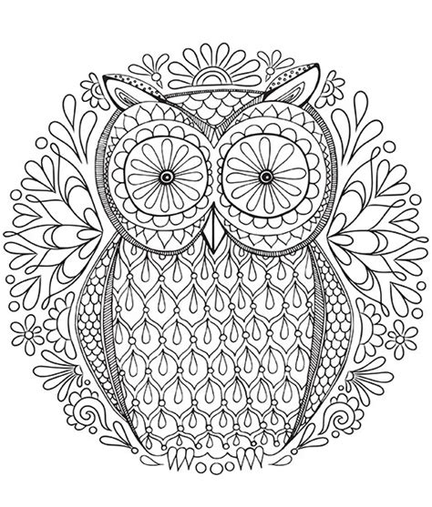 coloring pages for adults owls free coloring pages of owl mandala