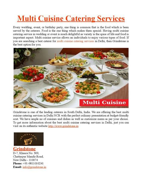 multi cuisine multi cuisine catering services by grindstonedelhi on