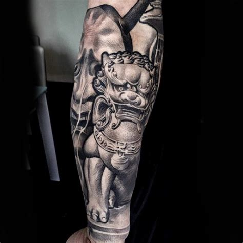 cool 3d style colored forearm tattoo of asian style tiger