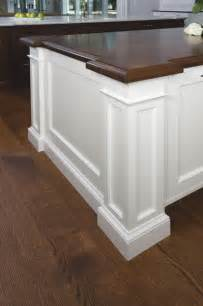 traditional white walnut island corner post