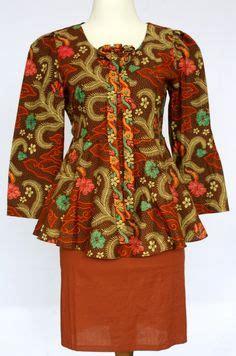 Blus Kerja Wanita Batik Dewi 2 contoh model baju batik wanita terkini style