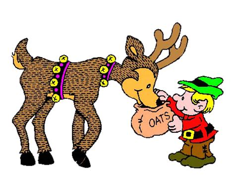 santa and reindeer clipart christmas image #11011