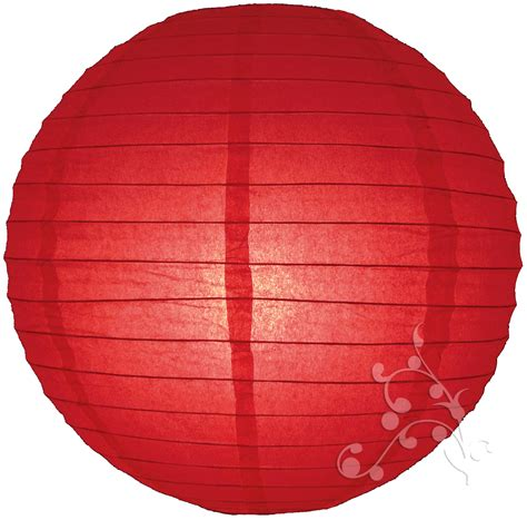 hanging paper lantern lights 30 inch large red even ribbed round lanterns