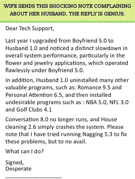 Support Letter From Husband To Best Reply To A Relationship Complain This Is Genius