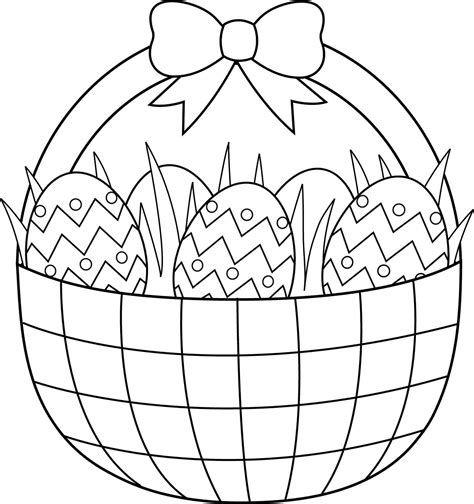 coloring pages for easter basket empty easter basket coloring page coloring home