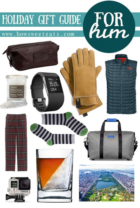 holiday gift guide for him how sweet it is