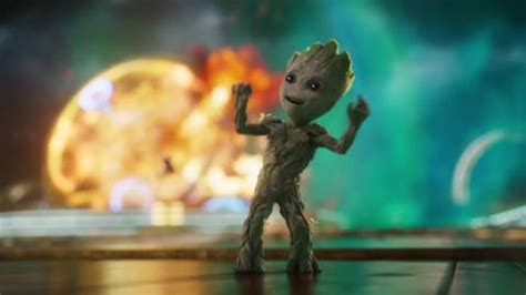 'baby groot steals the show' – the first guardians of the